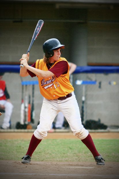 Alexis T. Busch representing Baulkham Hills at the 2011 Sydney Invitational Women's Baseball Tournament