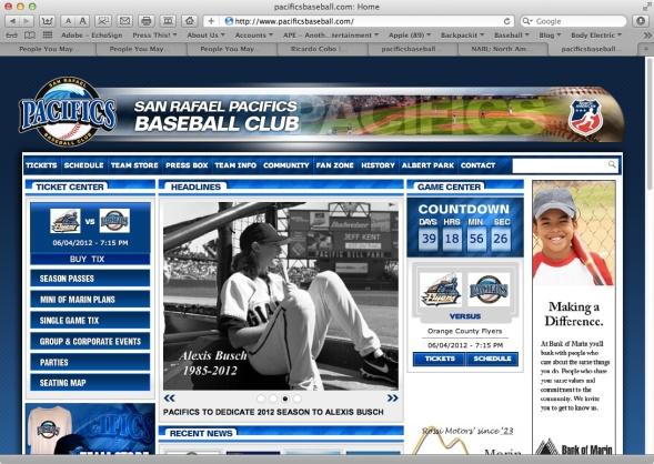 Pacifics to Dedicate 2012 Season to Alexis Busch