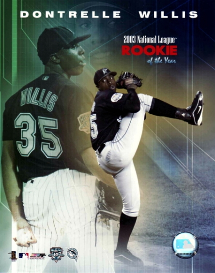 Dontrelle Willis – Rookie of the Year – 2003 – National League – All Rights Reserved